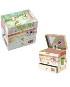 Girls Jewellery boxes with kittens