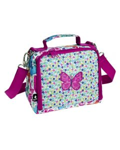 pink butterfly sequin lunch bag