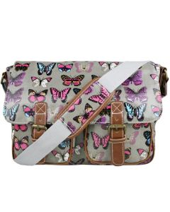 School Satchel - Grey Butterfly