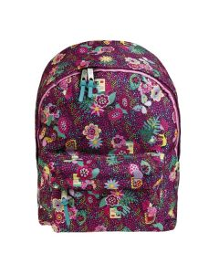 Girl's School Backpacks - Purple Flowers