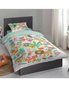 jungle theme bedroom duvet set for boys and girls