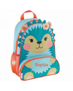 Personalised Girl School Backpacks - Hedgehog