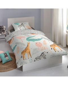 Jungle Animals Cotton Duvet Cover