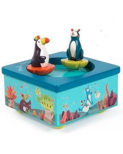 Moulin Roty Wooden Baby Music Box - In the Jungle - Personalisable
