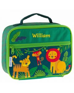Personalised boys jungle lunch boxes