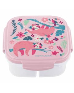 Girl pink snack box sloth