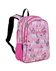 Pink Unicorn Girls Backpacks - Personalised
