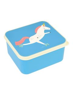Children's Blue Unicorn Lunch Box
