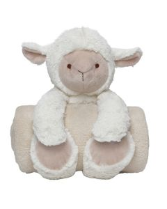 Lamb Baby blanket with soft toys