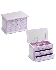 Girls Wooden  Lilac Musical jewellery boxes