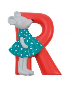 Children's Moulin Roty Resin Door Letters - Red R