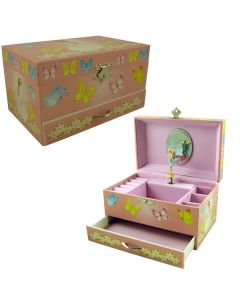 Girl Musical jewellery boxes - lily Butterfly