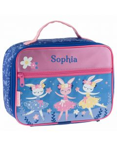 personalised girl bunny ballet lunch box