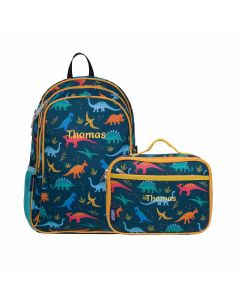 Personalised Dinosaur Backpack & Lunch Bag Set