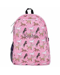 Personalised Pink Horses Backpacks