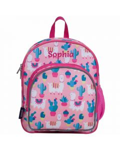 Pink Llama Backpacks Personalised
