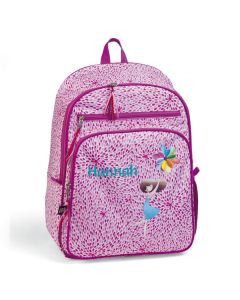 Personalised Pink Petal Backpack for Girls