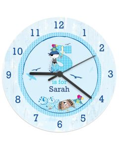 Personalised Pirate Wall Clocks