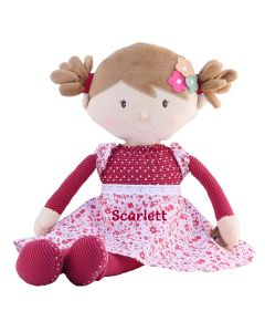 Personalised by embroidery Rag Doll