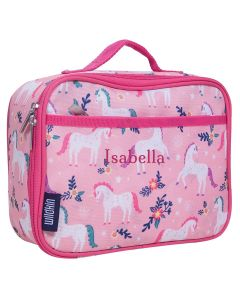 Personalised Pink Unicorn Lunch Bag