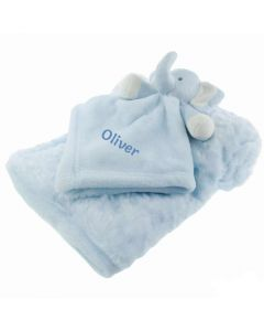 Baby Blanket with Personalised Baby Comforter