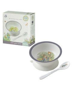 Peter Rabbit Melamine Suction Bowl with Spoon