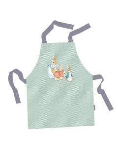 Peter Rabbit Children's Aprons - Green with spots