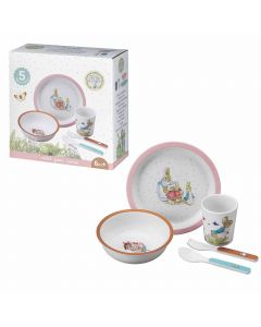 Melamine Gift Set Pink with Peter Rabbit
