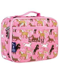 Girl's Pink Horses Lunch Boxes