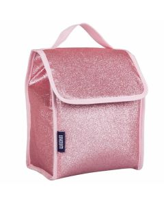 Large Kids Lunch Bags - Pink Glitter