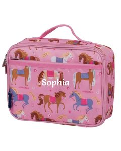 Personalised Pink Ponies Lunch Bags