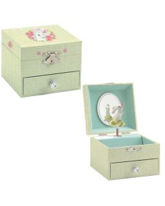 Rabbit musical jewellery boxes
