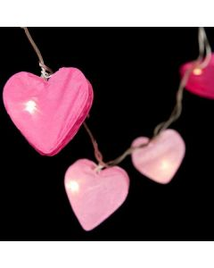 Pink Radiant Hearts Fairy Lights