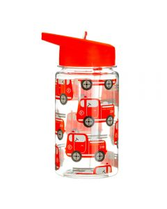 Children's Plastic Water Bottle 400ml - Fire Engine