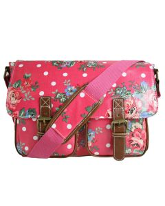 Flowers and Polka Dots Red School Satchel