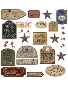 Country Signs Wall Stickers by RoomMates