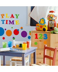 Primary Numbers Wall Stickers