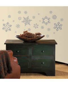 Glitter Snowflakes Wall Stickers by RoomMates