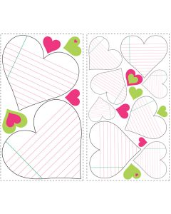 Heart Notepad Dry Erase Wall Stickers by RoomMates