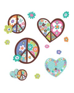 Heart & Peace Signs Wall Stickers by RoomMates