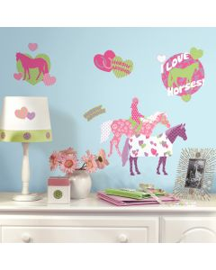 Girls Horse Crazy Wall Decals