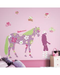 Horse Crazy Giant Wall Stickers