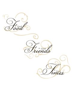 Good Friends Good Times Wall Stickers by RoomMates