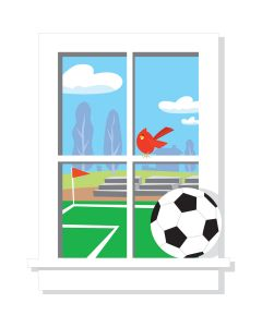 Football Giant Window Wall Stickers