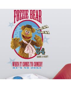 The Muppets Fozzie Giant Wall Sticker