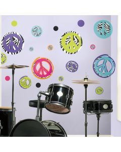Zebra Peace Signs Wall Stickers