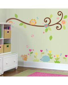 Happi Baby Scroll Tree Branch Wall Stickers