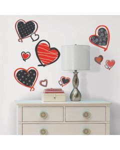 Modern Heart Wall Stickers