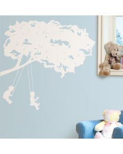 Kids On Swings Wall Stickers