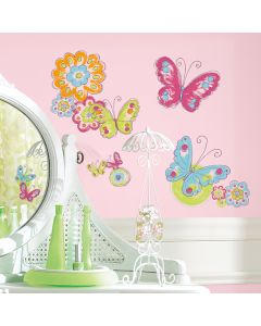 Brushwork Butterfly Wall Stickers